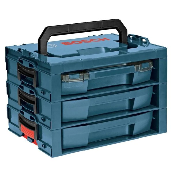 Bosch L-RACK 17.25-in 3-Drawer Blue Plastic Tool Box