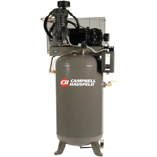 Campbell Hausfeld Two-Stage Air Compressor - 5 HP, 16.6 CFM 175 PSI, 230 Volt Single Phase