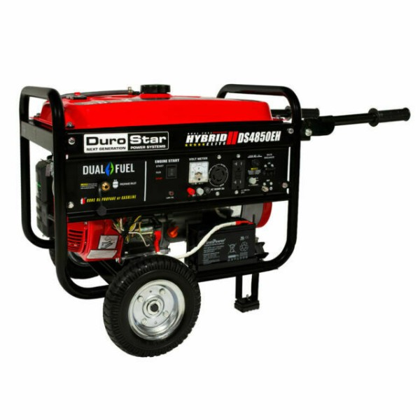 DuroStar DS4850EH 4,850-Watt Dual Fuel Hybrid Generator w- Electric Start