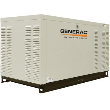 Generac GNC-QT08046X 80kW 3,600-Rpm Commercial Series Aluminum Enclosed Generator