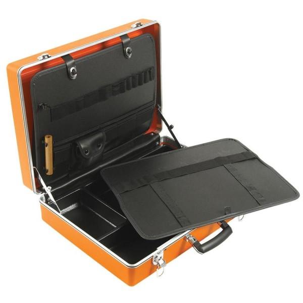 Jameson Jt-ct-03200 19.2-in Orange Plastic Metal Tool Box