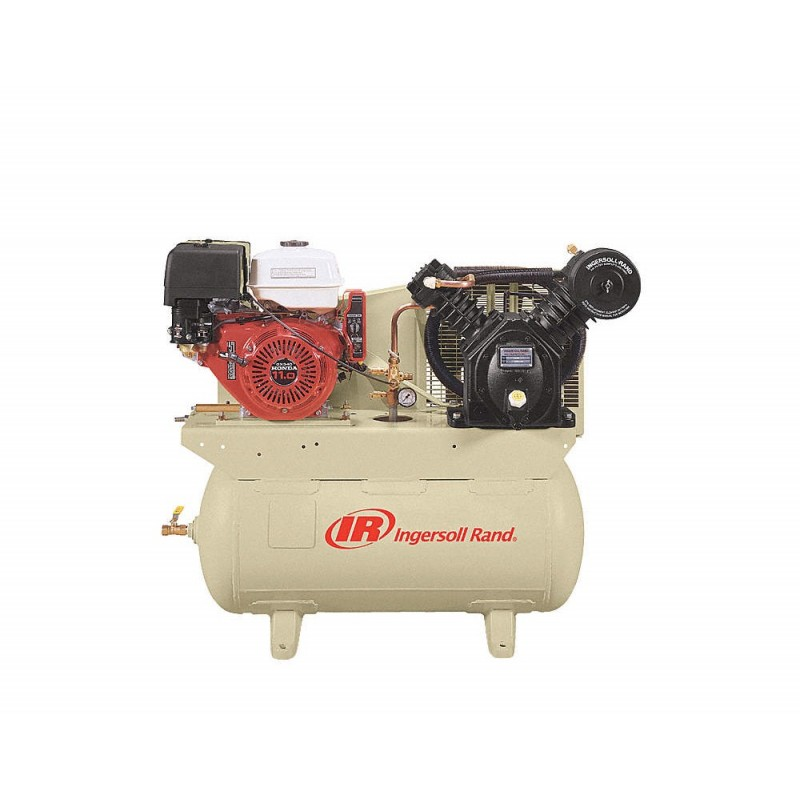 Ingersoll Rand 24 CFM 175 PSI, 13 HP Horizontal Air Compressor with Alternator
