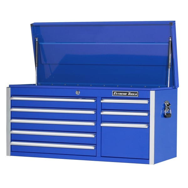 Extreme Tools 41-in 8 Drawer Top Chest- Blue