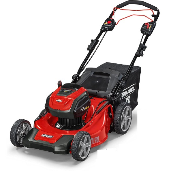 """Snapper SXD21SPWM82K 21"""" 82V Battery-Powered Self-Propelled Electric Lawn Mower w/ Batteries and Charger"""