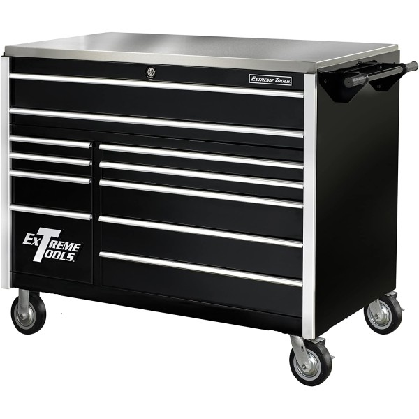 Extreme Tools 55 In. 11 Drawer Pro Roller Cabinet- BLK